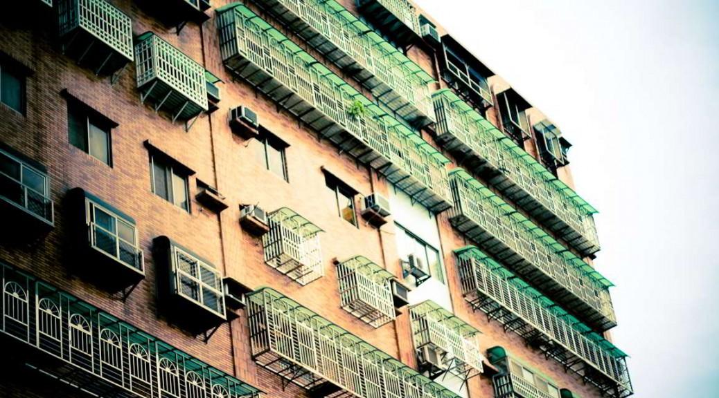 Façade d'immeuble à Sanchong