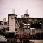 Les toits de Sanchong depuis un appartement
