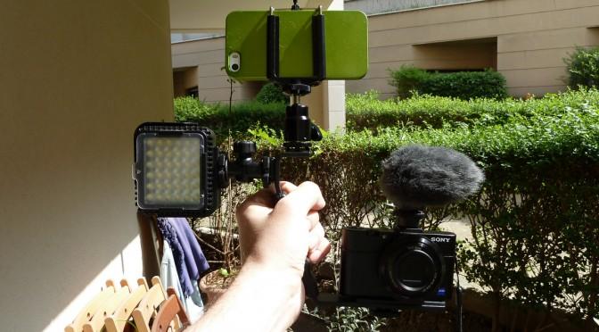 """Mon rig """"caméra vidéo portée"""""""